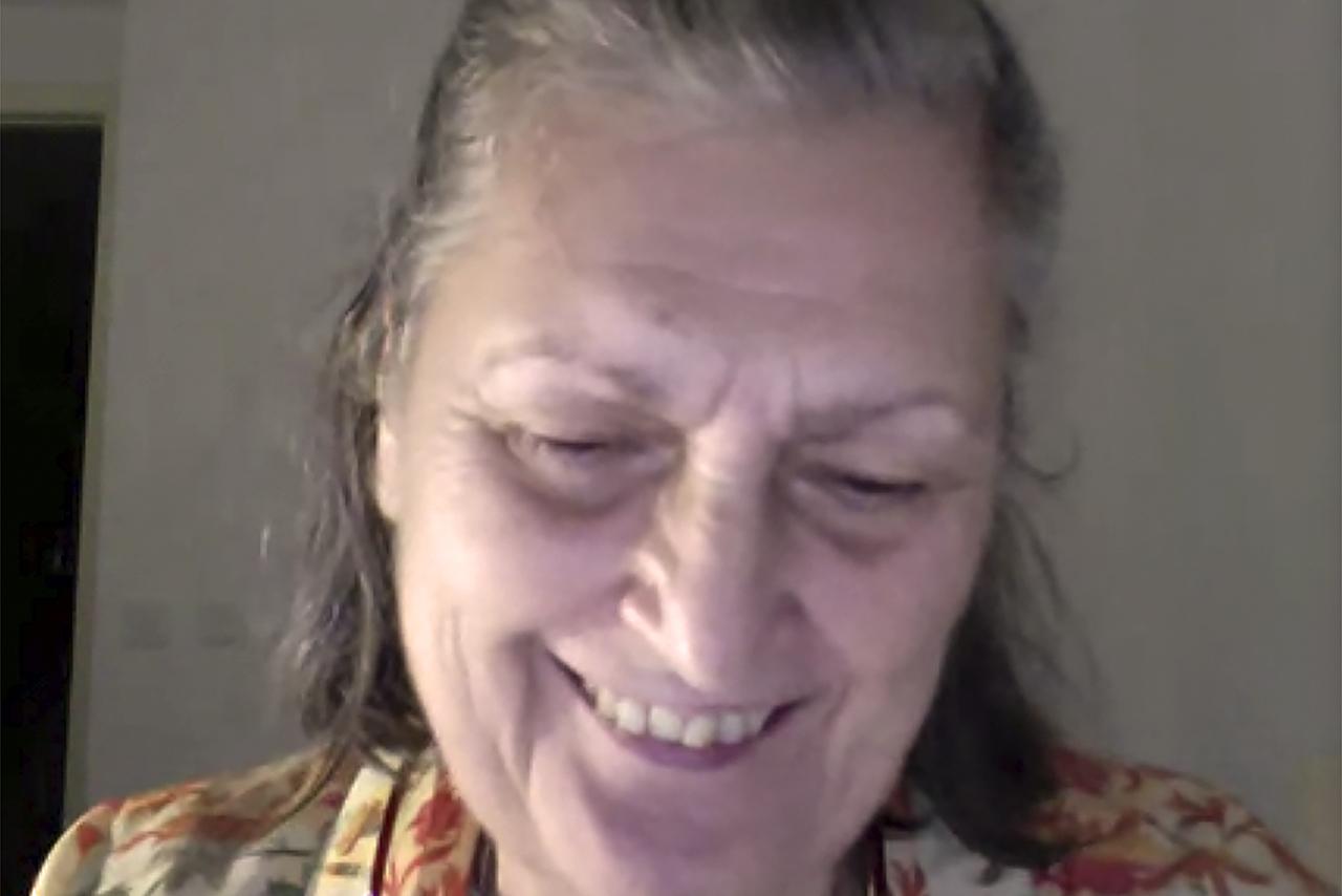 Olga Lucas, viuda y legataria de José Luis Sampedro