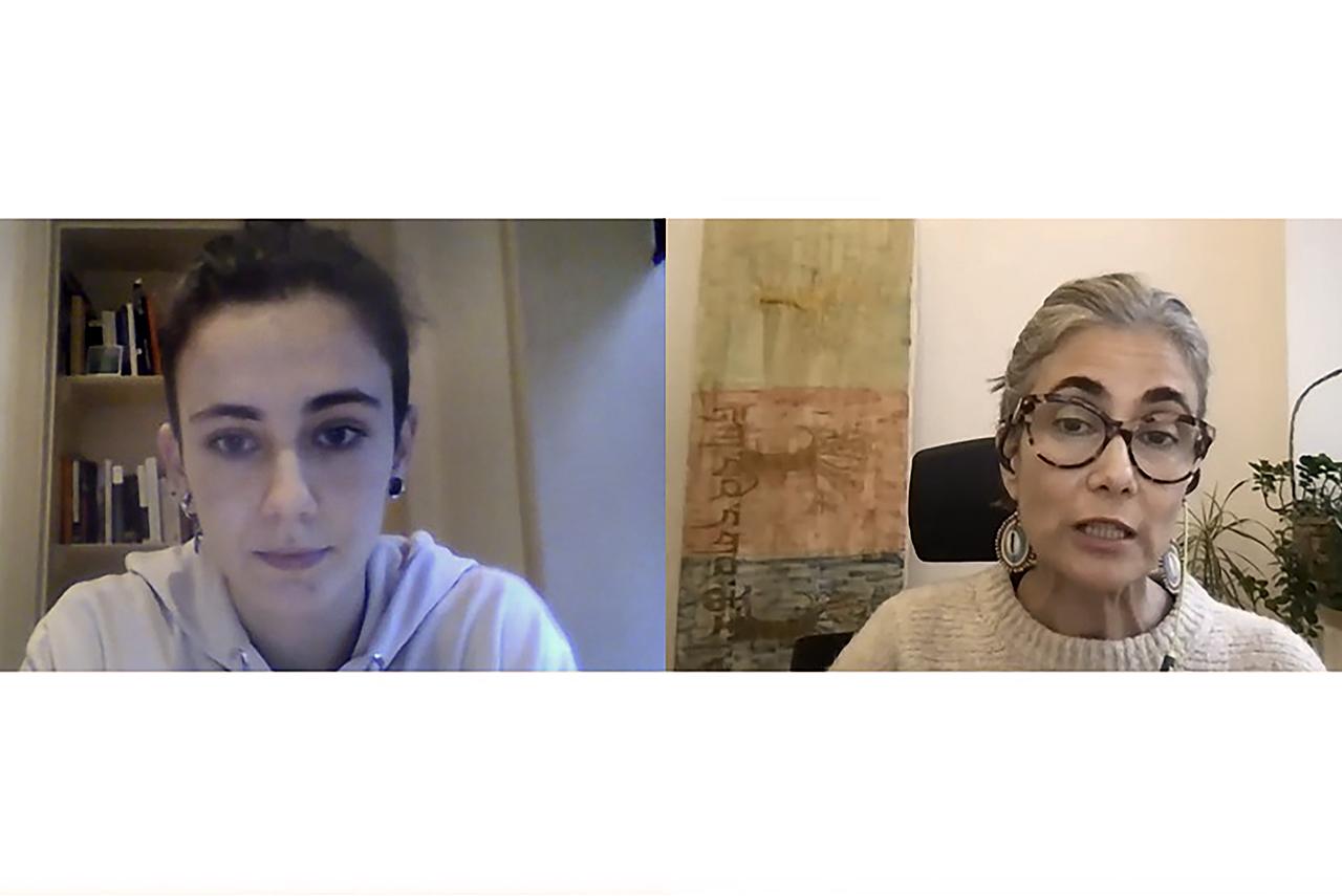 Aurora de Castro y la vicedecana Cristina Sánchez