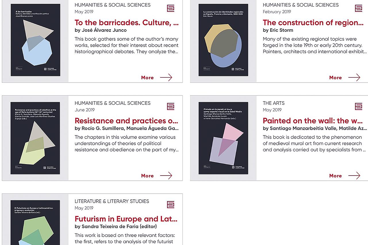 Los cinco libros elegidos por Ediciones Complutense