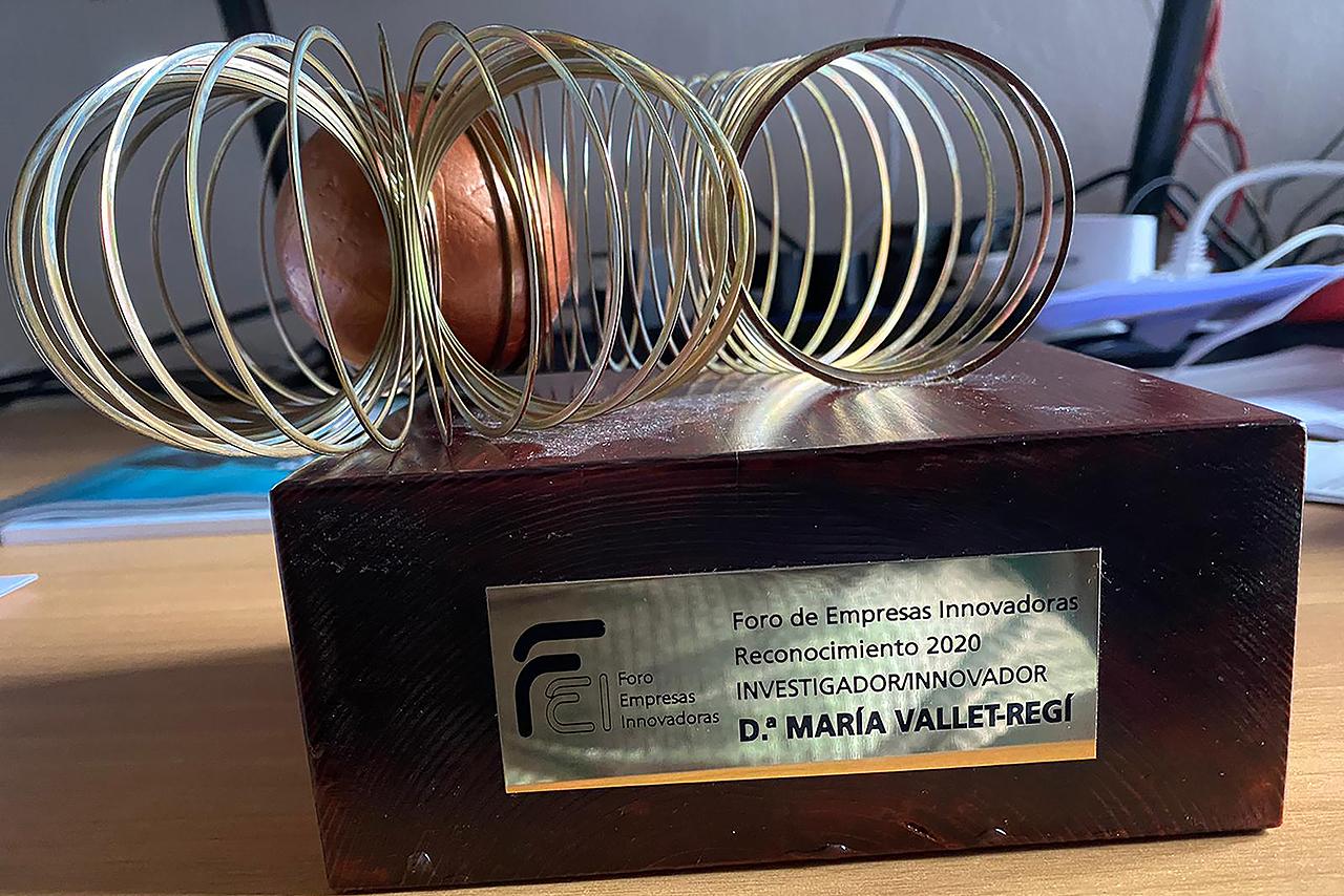 Trofeo entregado a María Vallet