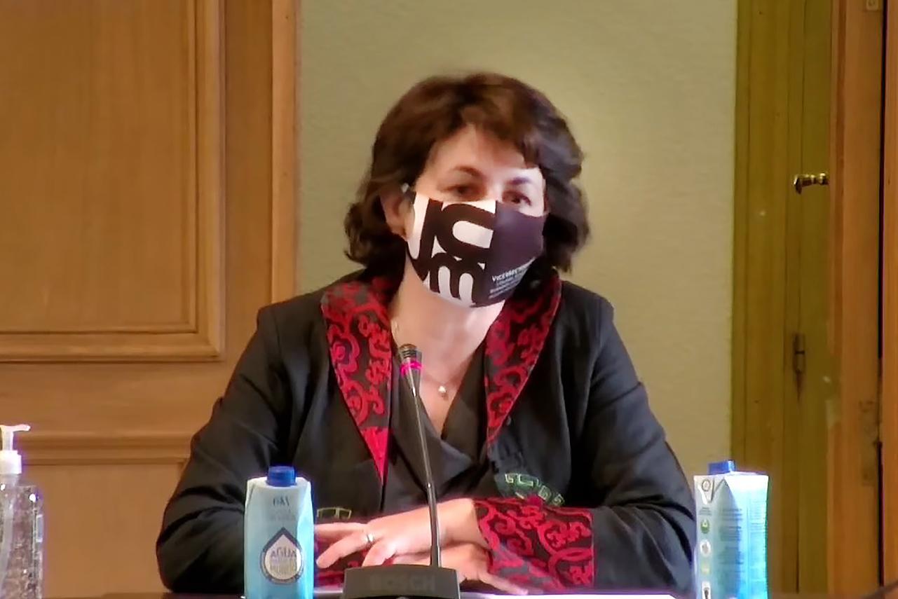 Isabel García, vicerrectora de Cultura, Deporte y Extensión Universitaria de la UCM