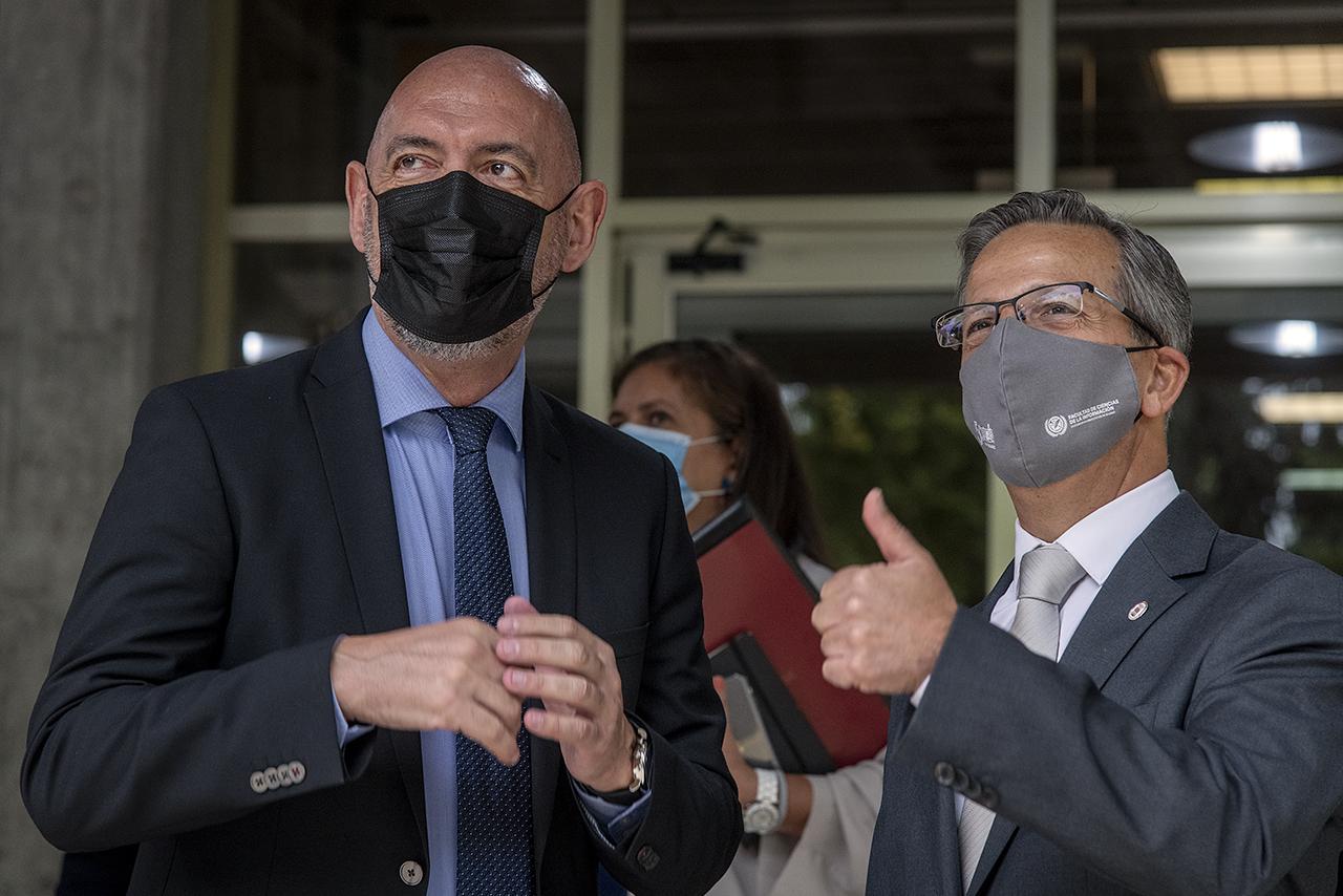 El rector Joaquín Goyache y el decano Jorge Clemente