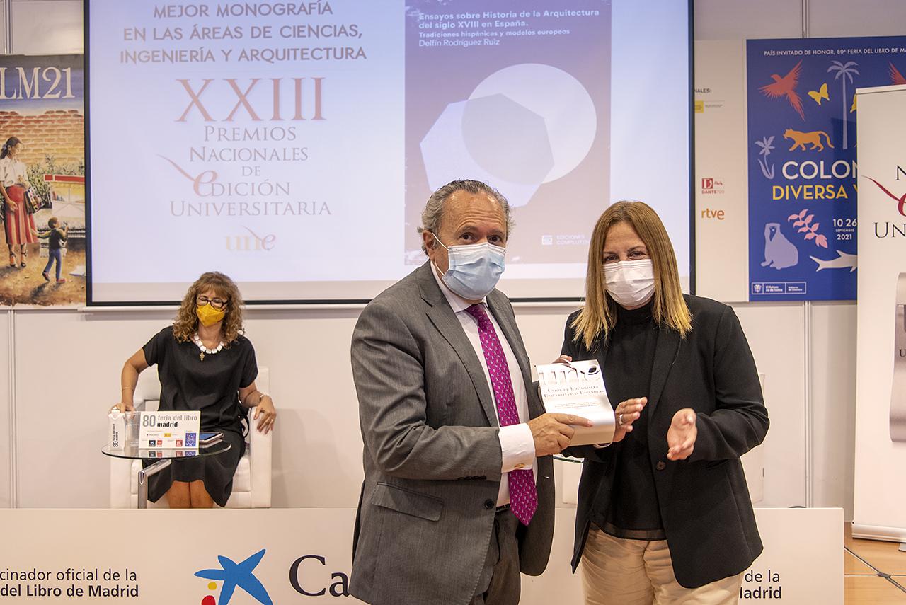 El vicerrector Juan Carlos Doadrio con la directora general de la Fundación Española para la Ciencia y la Tecnología (FECYT), Imma Aguilar