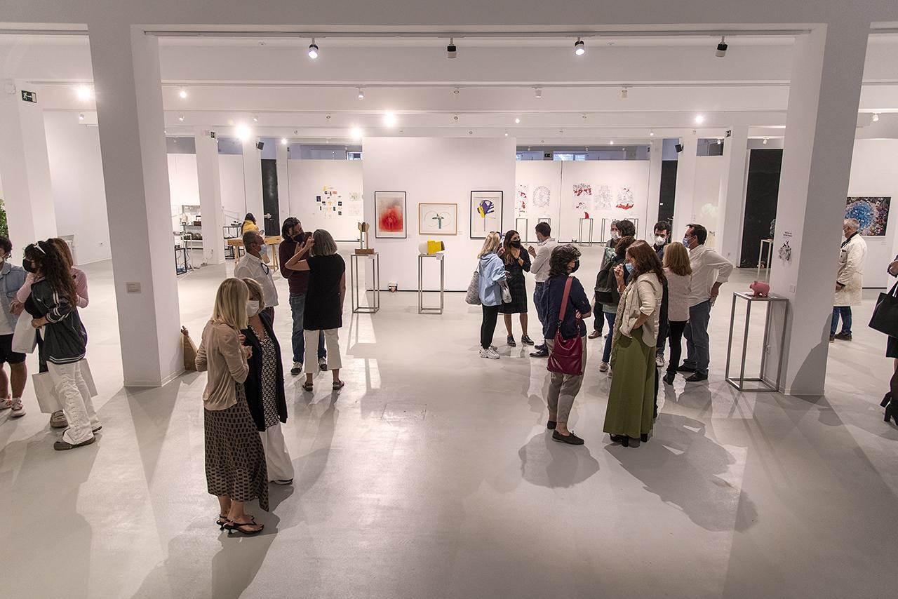 Inauguración de la muestra en la renovada sala de exposiciones de la Facultad de Bellas Artes