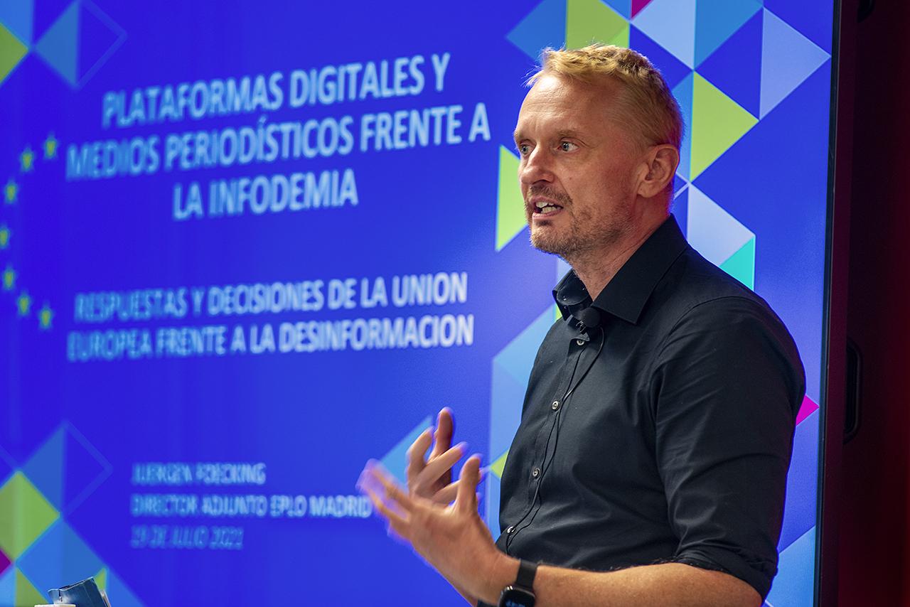 Juergen Foecking, director adjunto de la Oficina del Parlamento Europeo en Madrid