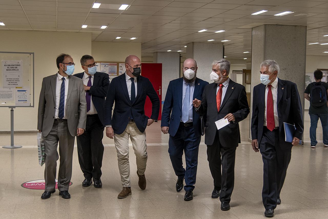Eugenio Luján, Antonio Bru, Joaquín Goyache, Miguel Luque, Roberto Salmerón y José Luis Negro