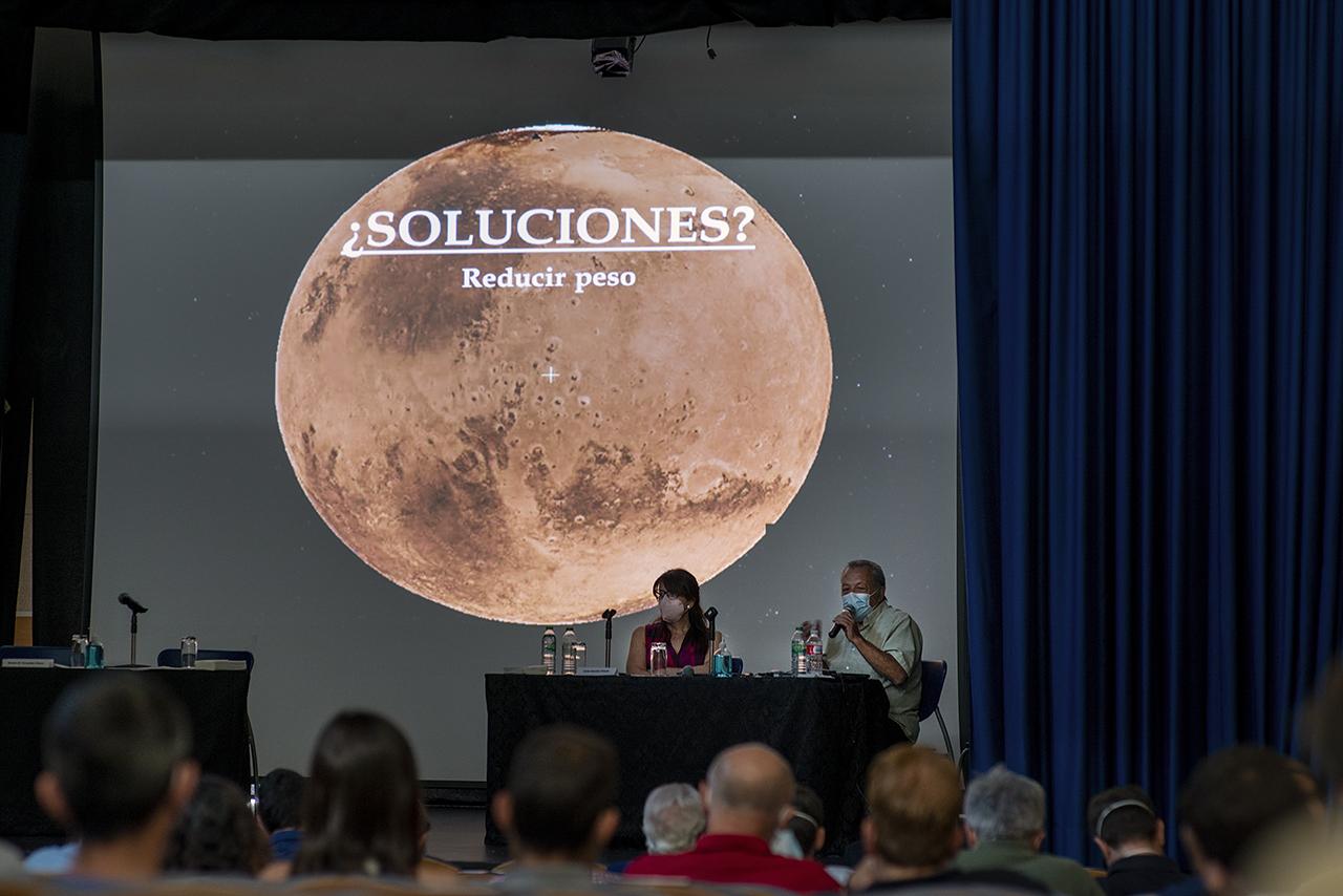 Jornada sobre Marte celebrada en el Centro Cultural El Lisadero, en Robledo de Chavela