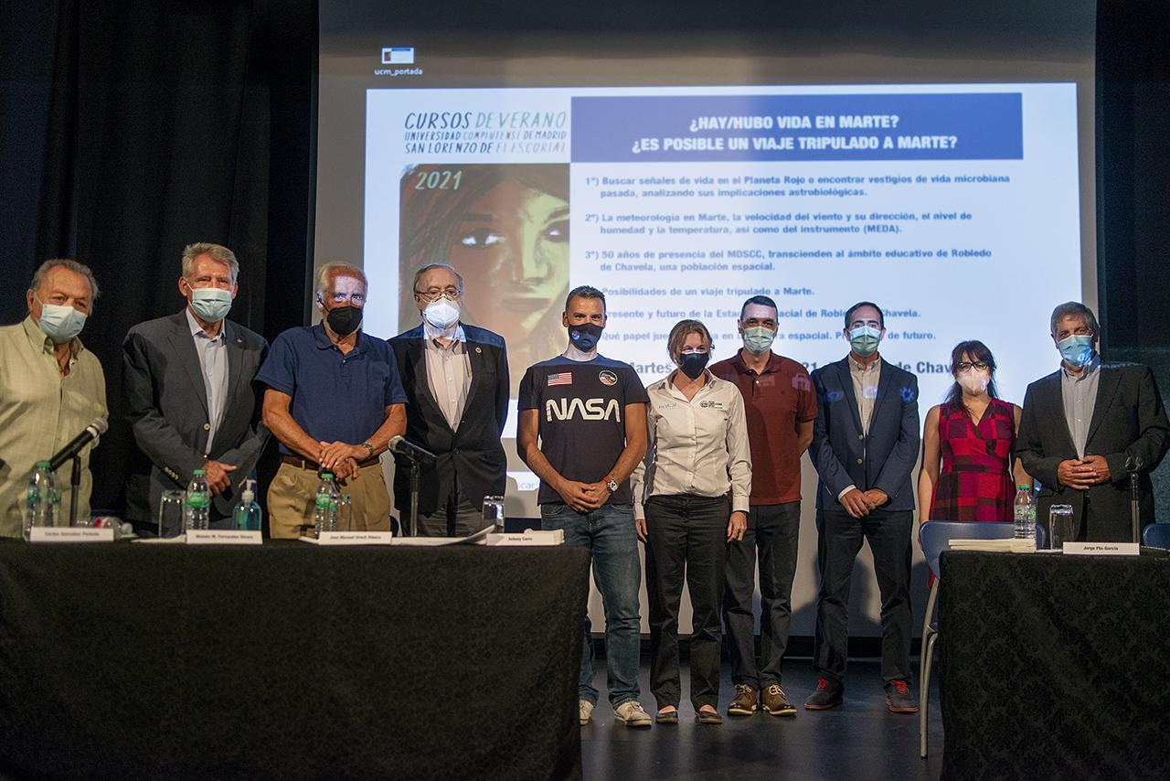 Los participantes en la jornada sobre Marte