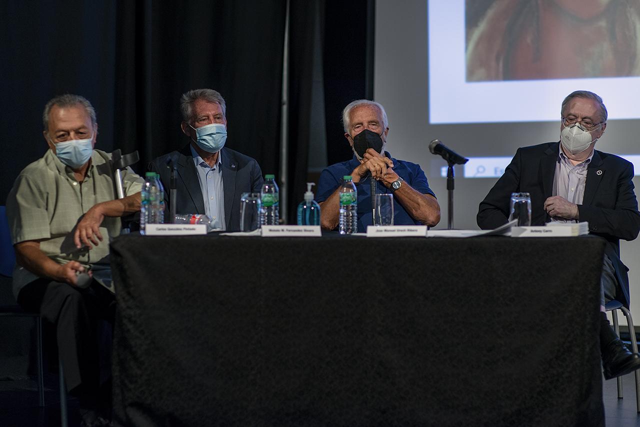 Carlos González Pintado, Moises Fernández, José Manuel Urech (director del MDSCC durante 20 años) y Anthony Carro