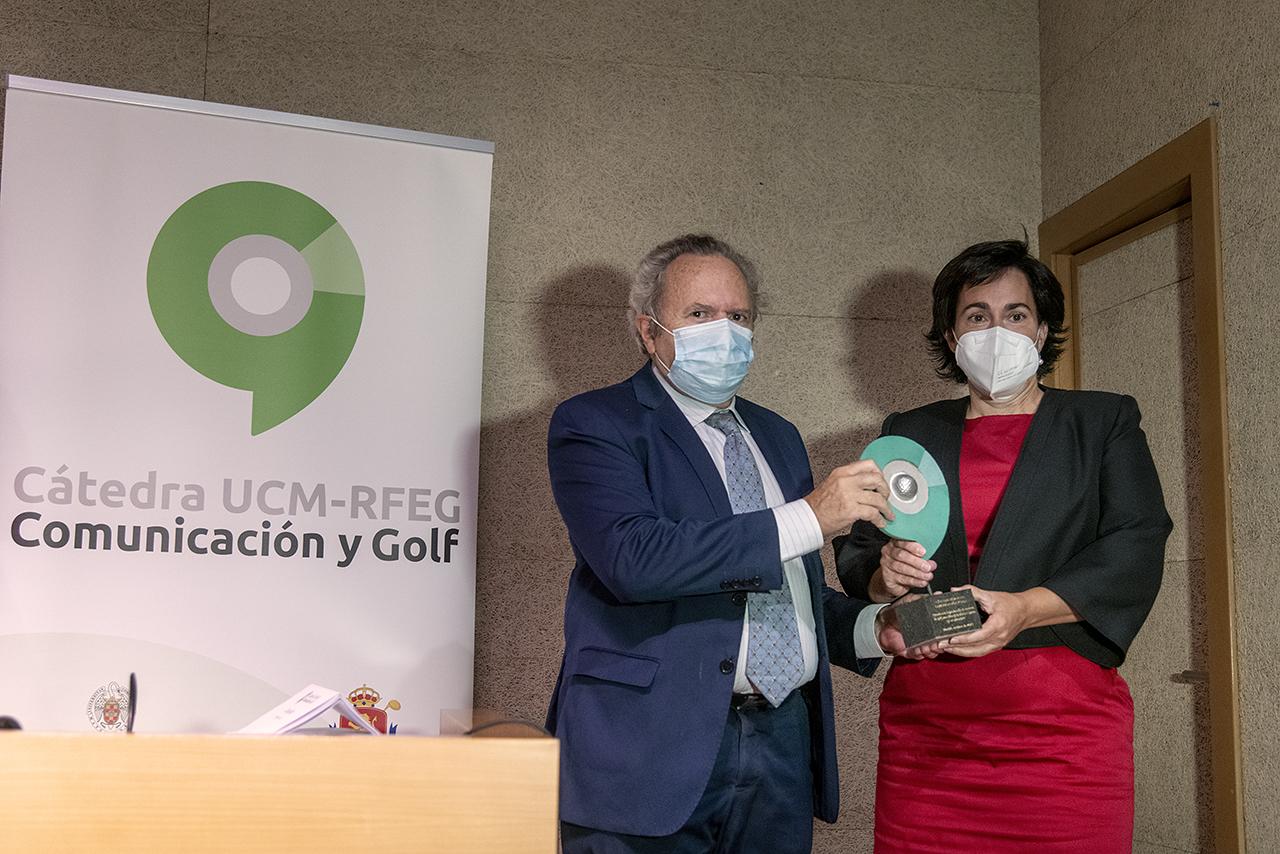 Alicia Garrido Villacieros y el vicerrector Doadrio