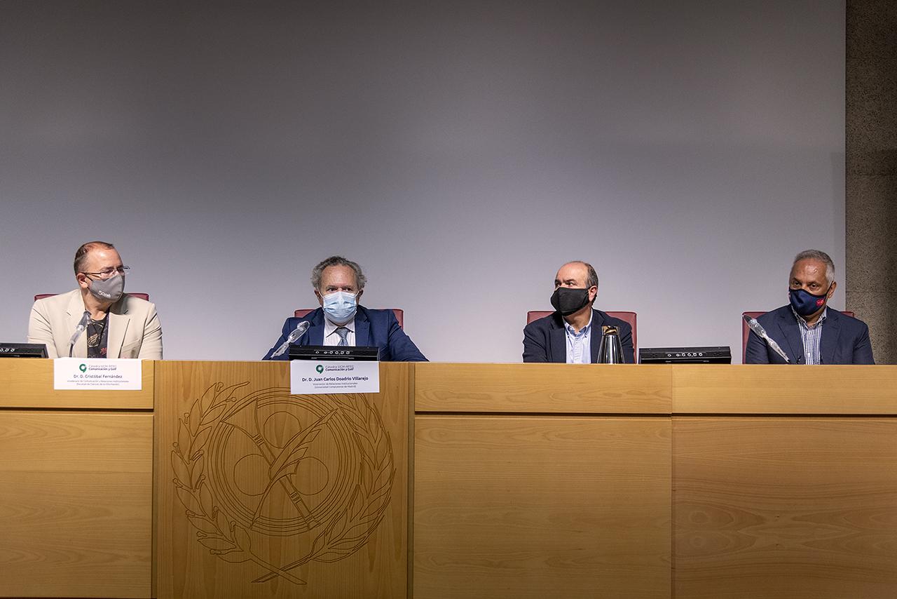 Cristóbal Fernández, Juan Carlos Doadrio, Fernando Peinado y Miguel Ángel Barbero