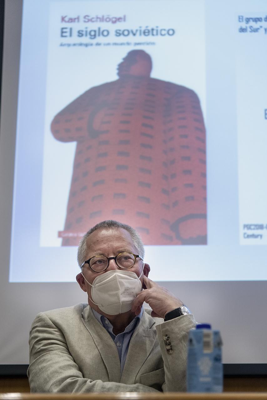 Karl Schlögel durante la presentación del último de sus libros que se ha publicado en España