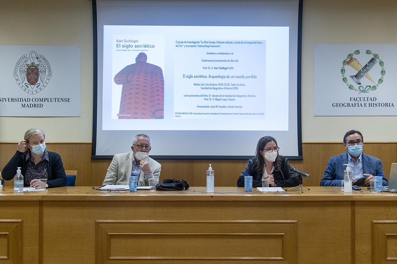 Sarah Lemmen, Karl Schlögel, María Cruz Cardete y José María Faraldo
