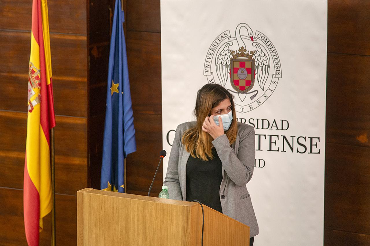 María Jesús puso voz a los alumnos de José Antonio Campo Santillana