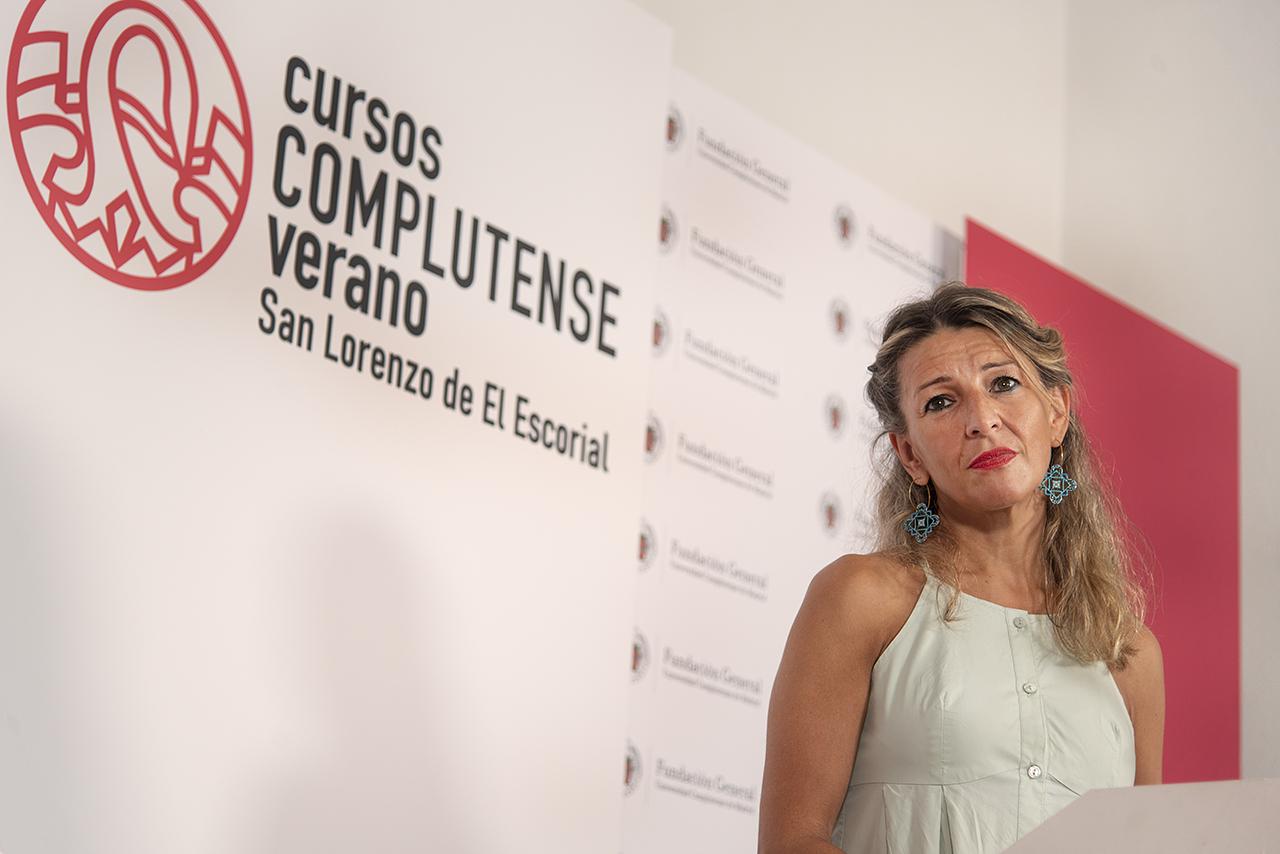 """La vicepresidenta Yolanda Díaz recuerda que los gobiernos """"están para redistribuir la riqueza y mejorar la vida de la gente"""""""