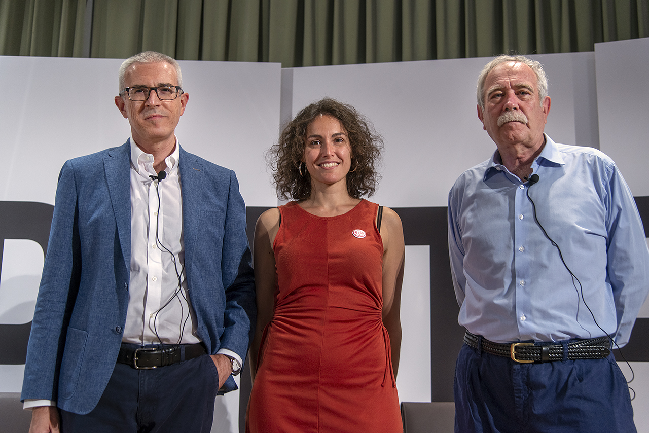 Emilio Lara, Sara Torres y Antonio Pérez Henares