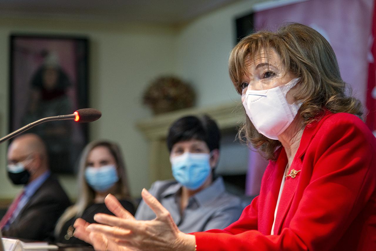 Mercedes Padilla, durante su intervención