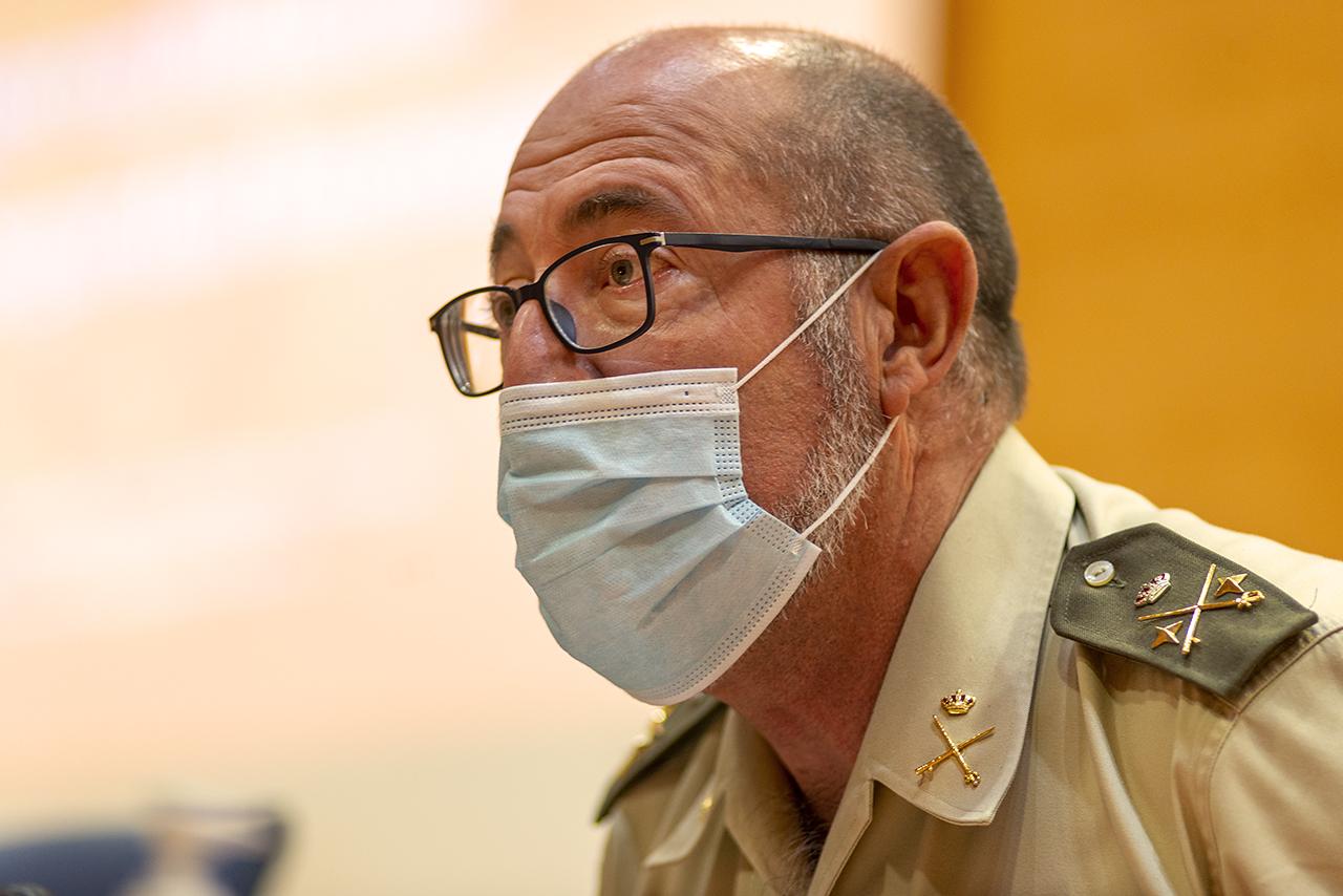 El director de la Escuela Superior de las Fuerzas Armadas, el general de División Miguel Ballenilla