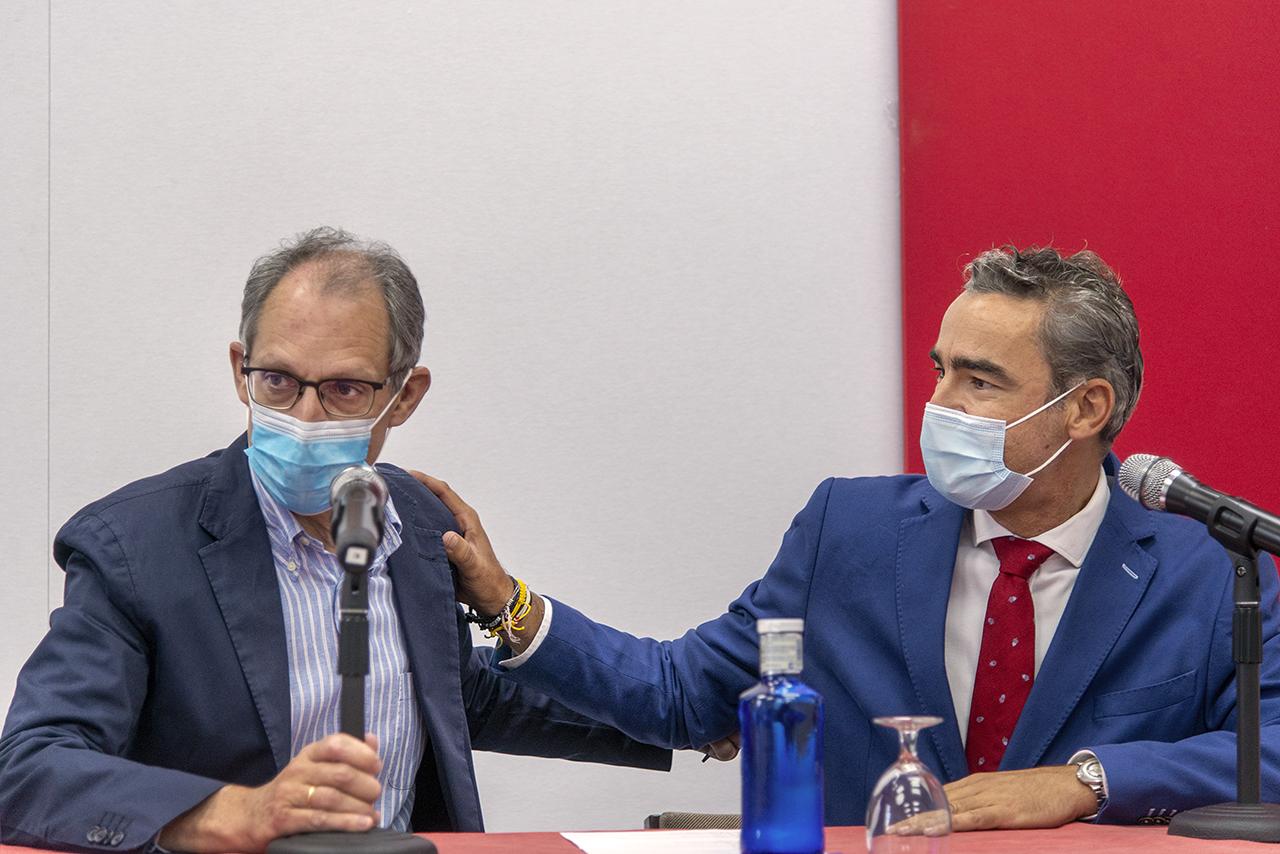 Los directores del curso, Rafael Cantón y Bruno González Zorn