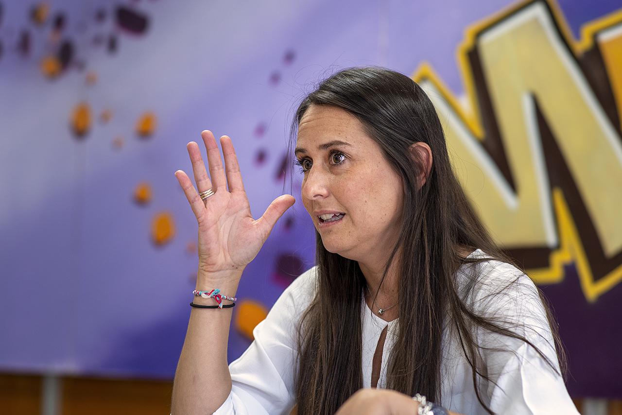 Elisa Pérez Moreno, en la Facultad de Psicología