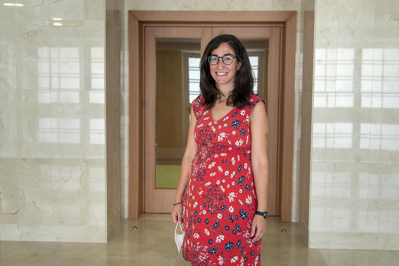 Marta Ábalos, en la Facultad de Ciencias Físicas