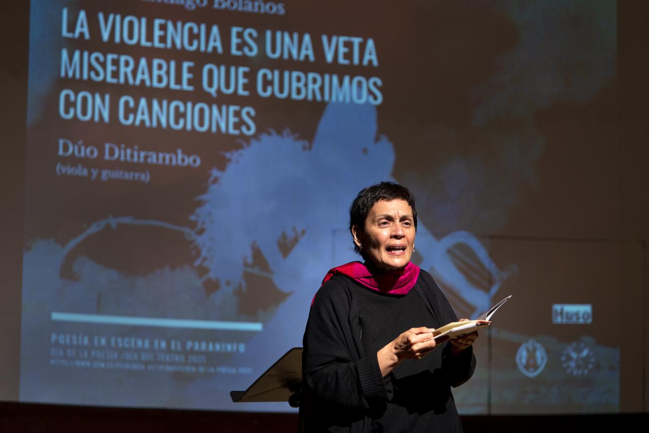 El recital de Marifé Santiago Bolaños inauguró el Día de la Poesía y el Día del Teatro 2021