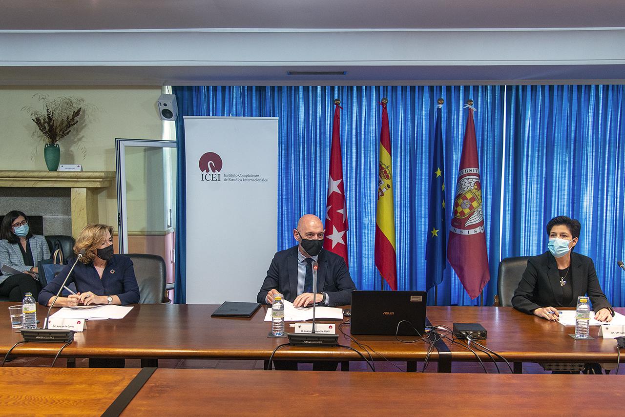De la Cueva, Goyache y Álvarez, al inicio de la sesión