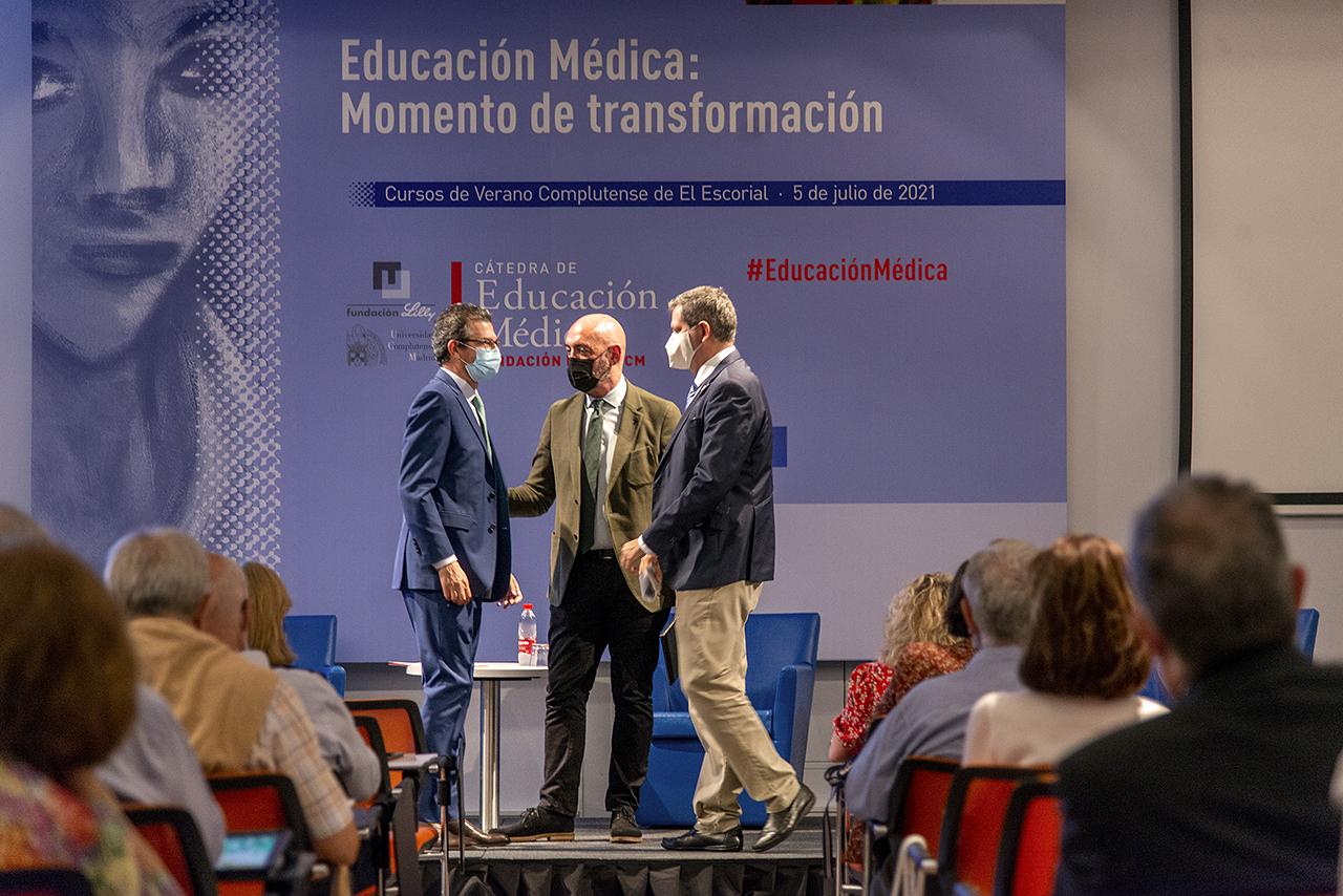 José Antonio Sacristán, Joaquín Goyache y Miguel Ángel Casermeiro