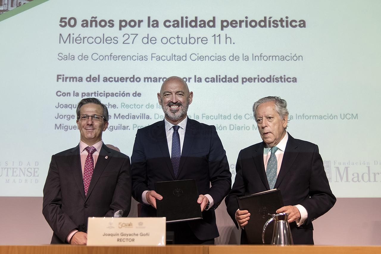 Acuerdo entre la UCM y la Fundación Diario Madrid para promover el periodismo de calidad