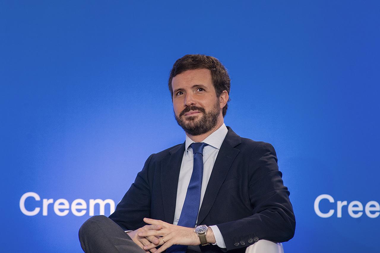 Casado resaltó que el PP ya es el partido con mayor intención de voto