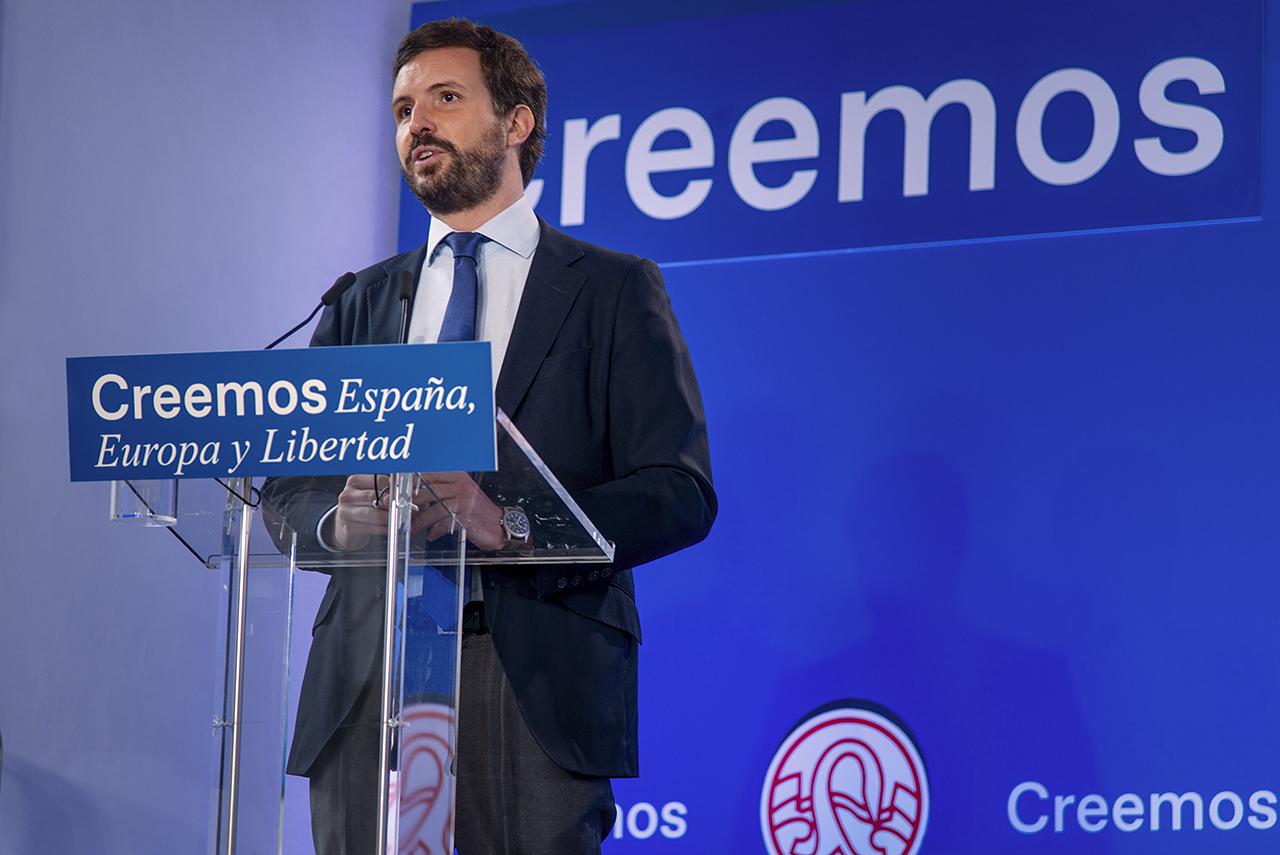 Pablo Casado, durante su intervención