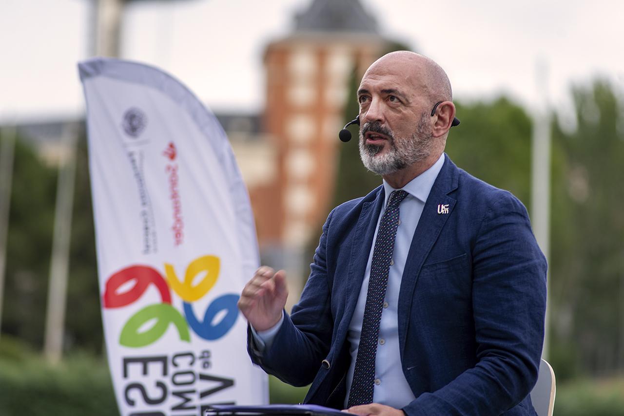 El rector de la Universidad Complutense, Joaquín Goyache