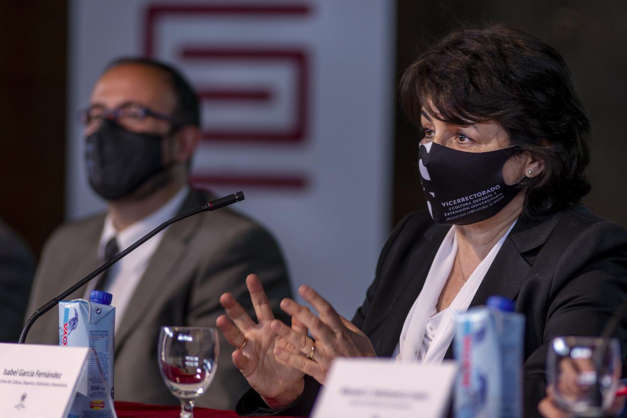 La vicerrectora de Cultura, Deporte y Extensión Universitaria, Isabel García
