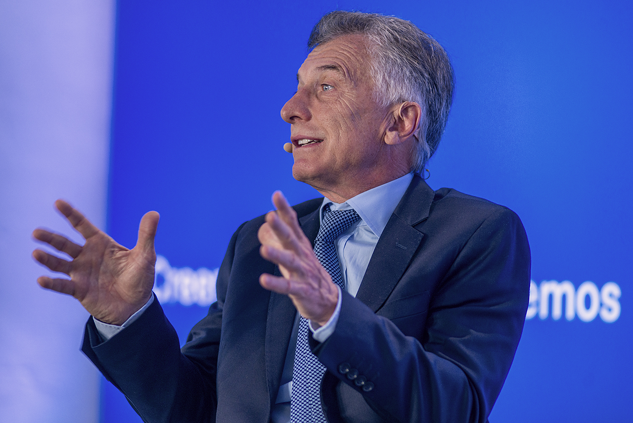 El ex presidente argentino, durante su intervención