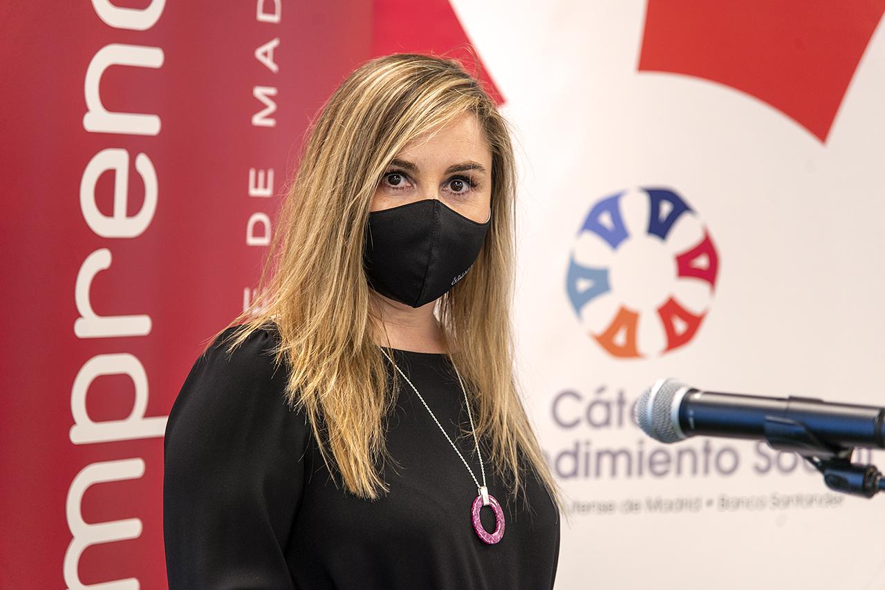La vicerrectora de Empleabilidad y Emprendimiento, Concepción García, detalló el ecosistema emprendedor complutense