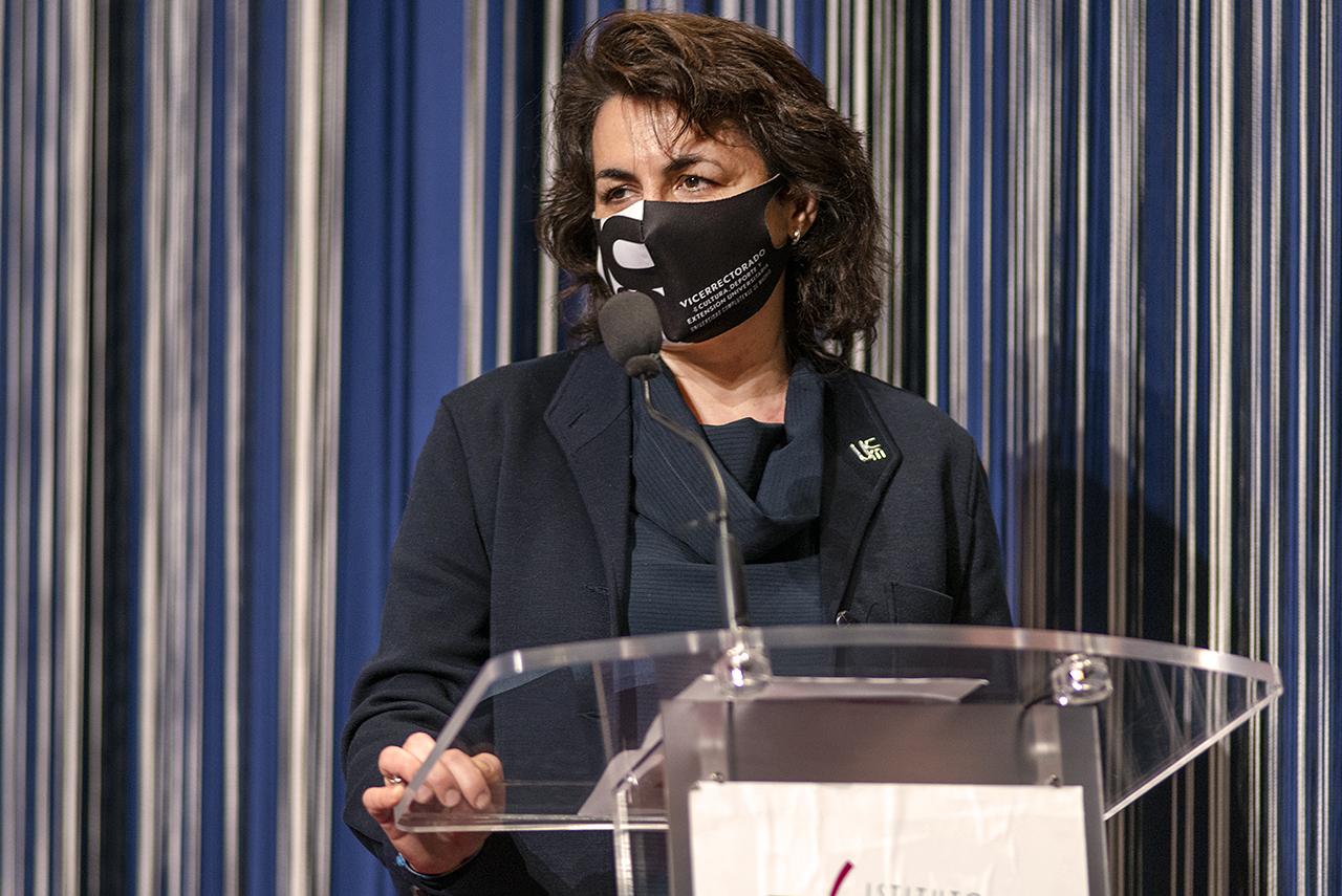 La vicerrectora de Cultura, Deporte y Extensión Universitaria de la UCM, Isabel María García Fernández