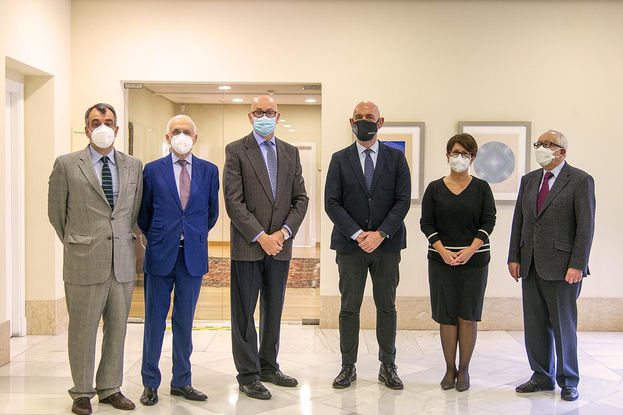 Álvaro Costas, Carlos Álvarez, Jesús Nuño de la Rosa, Joaquín Goyache, Mercedes Sánchez y Julio Sánchez