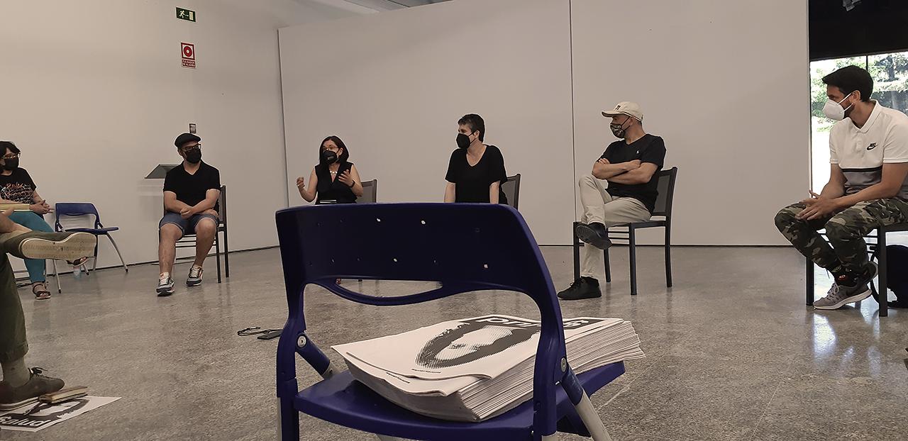 María Eugenia Blázquez, Guillermo Casado, Esther Pizarro, Sonia Díaz, Gabriel Martínez y José Martín durante la mesa de debate