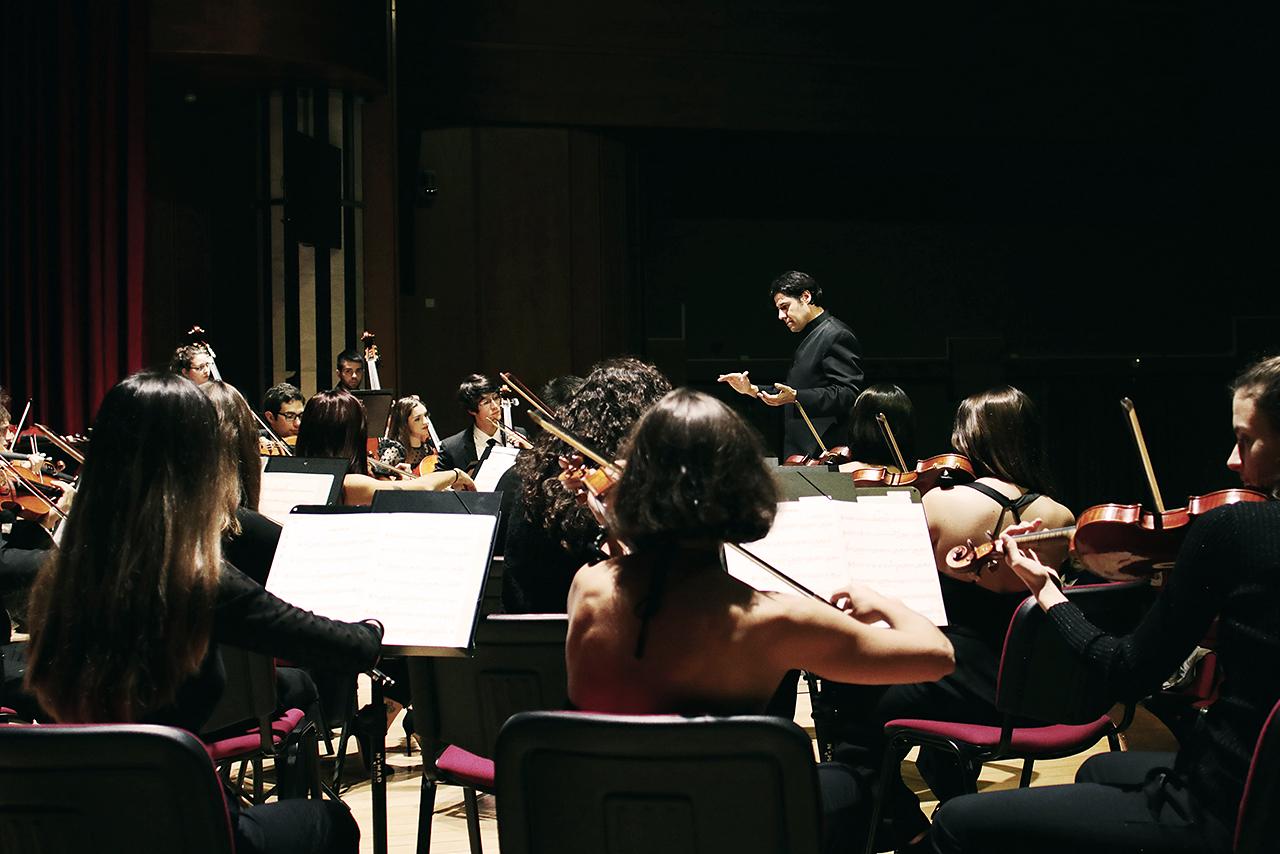 La OSUCM, durante un concierto