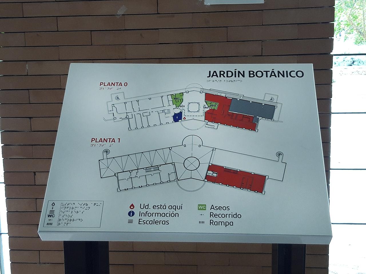 Plano del Jardín Botánico