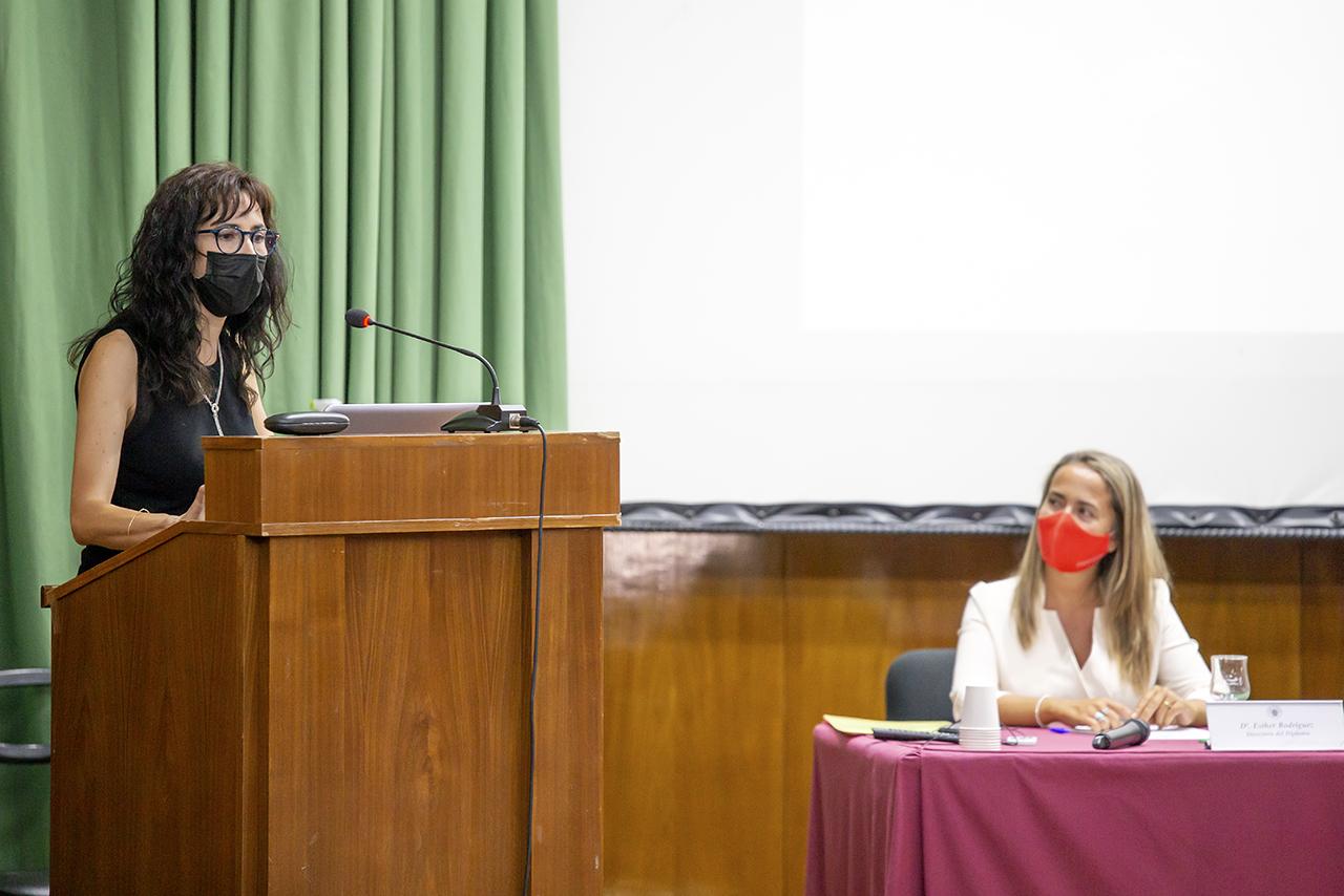 Isabel Fernández Jiménez habló en representación de las familias