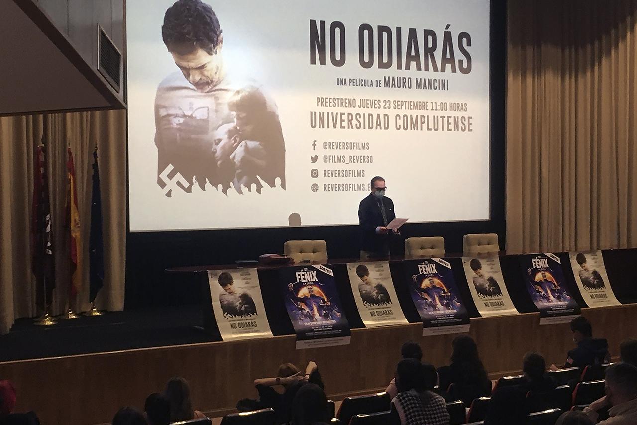 """Los preestrenos de este curso 2021-2022 han comenzado con la película """"No odiarás"""", de Mauro Mancini"""