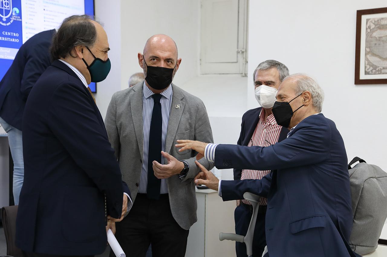 Luis Alberto Calvo, Joaquín Goyache, Lucas Domínguez y José Manuel Sánchez-Vizcaíno