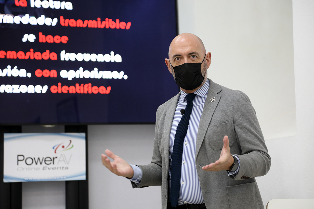 Joaquín Goyache, durante su conferencia