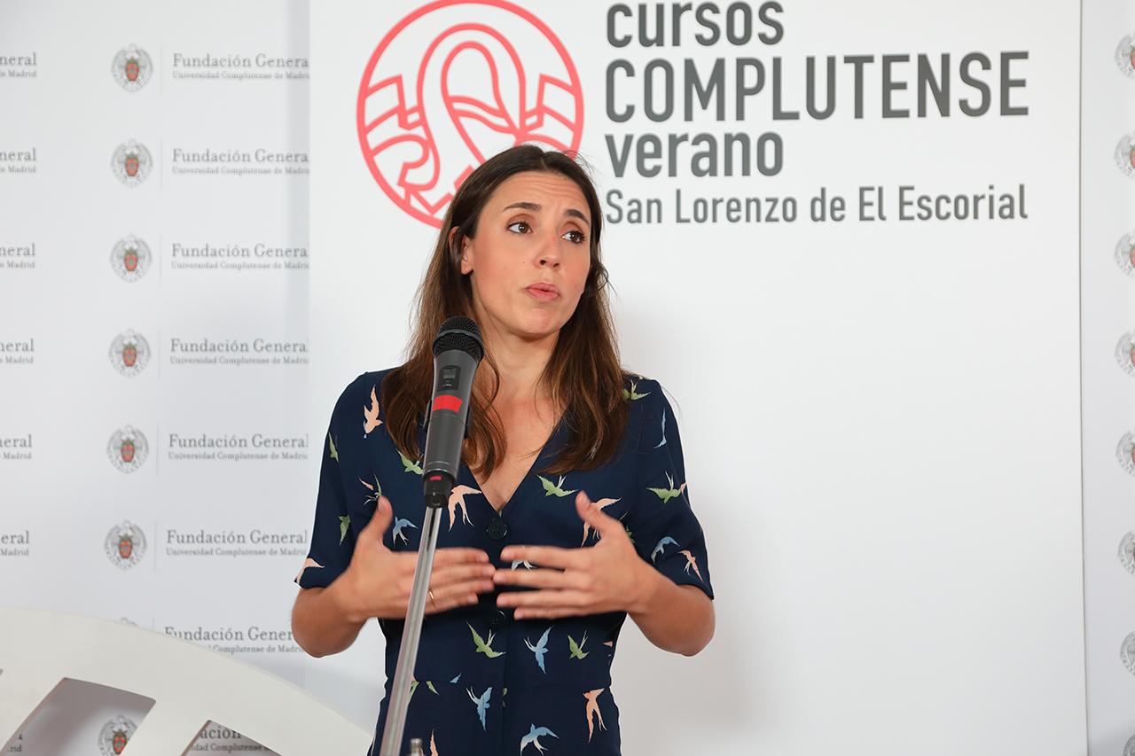 """Irene Montero ha participado en el curso """"Para vivir. Los feminismos rebeldes de la cuarta ola y la impugnación del neoliberalismo"""""""