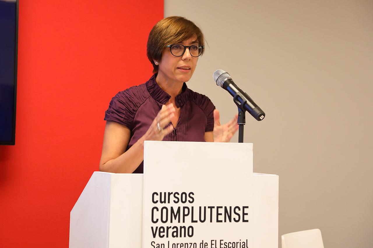 """La directora general de la Guardia Civil, María Gámez, ha participado en el curso """"Retos y desafíos de la política de seguridad en España: Construyendo el modelo de la seguridad 2030"""""""