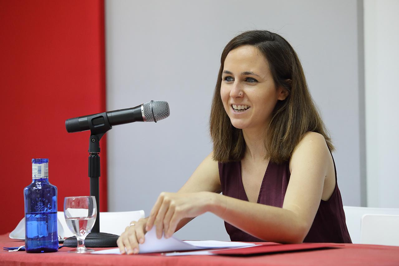 Ione Belarra, durante su conferencia