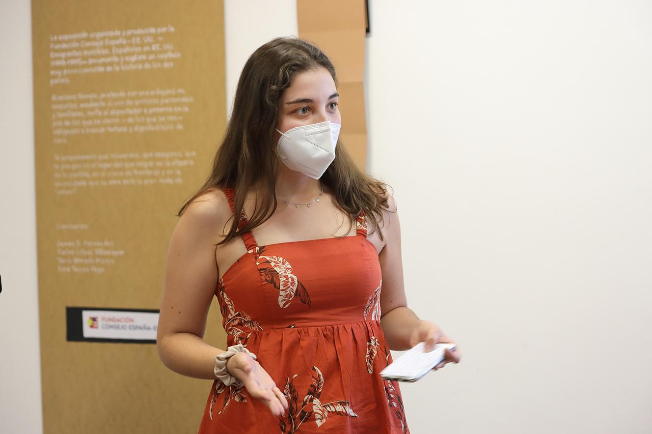 Tania Olmedo, una de las comisarias del Laboratorio de Migraciones