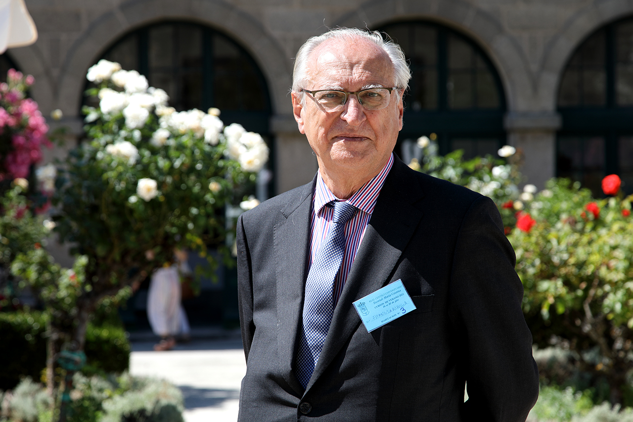 Francisco Aldecoa, catedrático de  Relaciones Internacionales de la Universidad Complutense y presidente del Consejo Federal Español del Movimiento Europeo