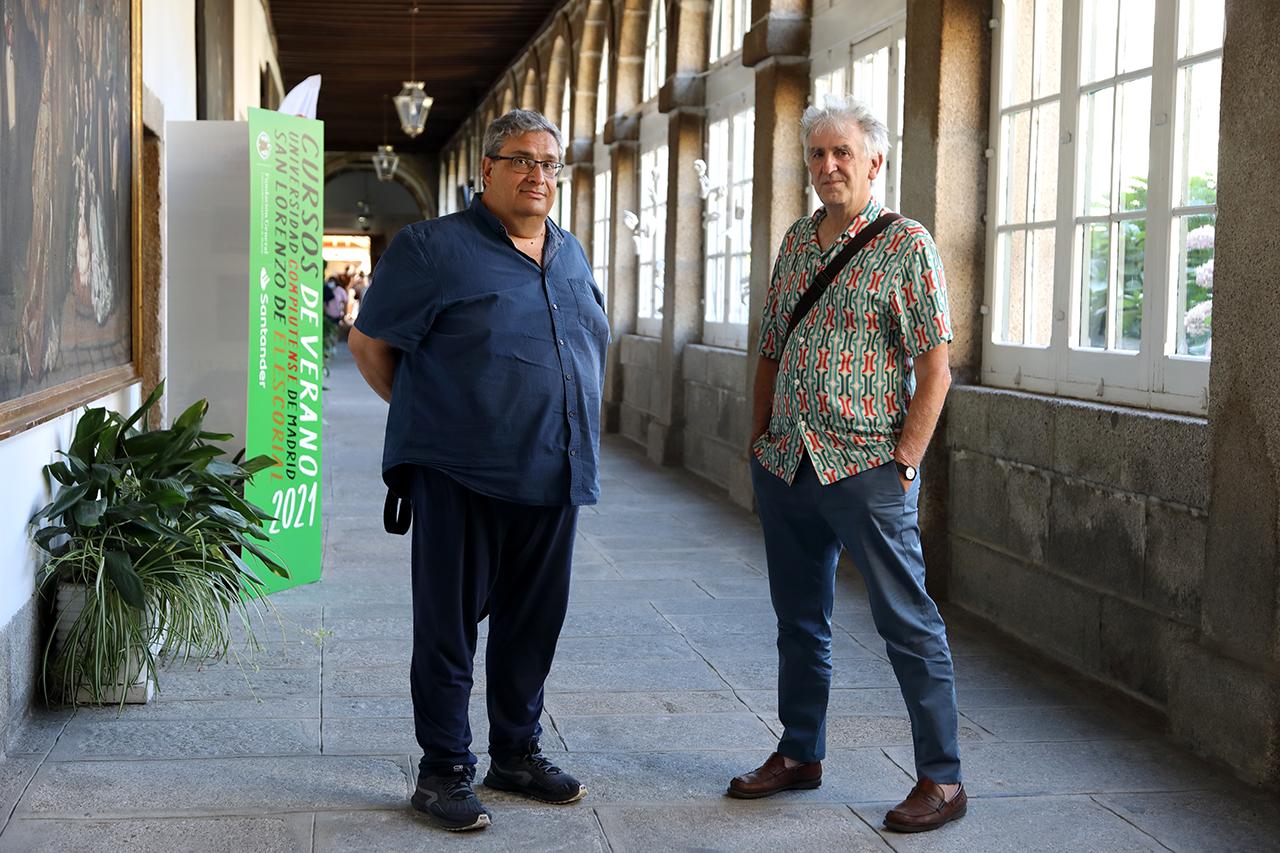Jesús Gallego y Juan Luis Arsuaga, en el RCU María Cristina